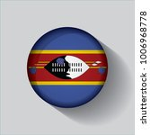 button flag of swaziland in a... | Shutterstock .eps vector #1006968778