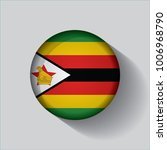 button flag of zimbabwe in a... | Shutterstock .eps vector #1006968790