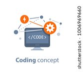 coding concept  computer... | Shutterstock .eps vector #1006969660
