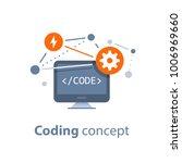 coding concept  computer... | Shutterstock .eps vector #1006969660