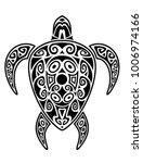 sea turtle in the maori style.... | Shutterstock .eps vector #1006974166