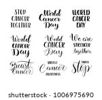 world cancer day lettering | Shutterstock .eps vector #1006975690