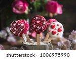 cake pops with little hears... | Shutterstock . vector #1006975990