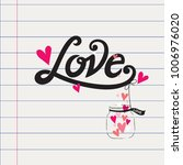 love typography vector design... | Shutterstock .eps vector #1006976020