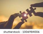silhouette woman hands... | Shutterstock . vector #1006984006