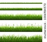 grass border isolated | Shutterstock . vector #1006984570
