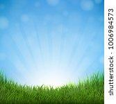 grass and sky  | Shutterstock . vector #1006984573
