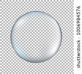 glass transparent ball isolated    Shutterstock . vector #1006984576