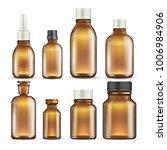 realistic brown glass medicine... | Shutterstock .eps vector #1006984906