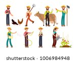 cartoon farmer and gardeners... | Shutterstock .eps vector #1006984948