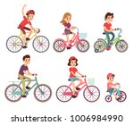 people riding bike. flat... | Shutterstock .eps vector #1006984990