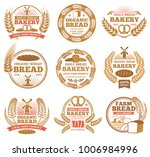 vintage bakery vector labels... | Shutterstock .eps vector #1006984996