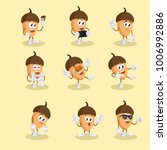 all set nut mascot and... | Shutterstock .eps vector #1006992886
