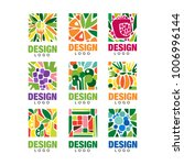 colorful fruit logos collection.... | Shutterstock .eps vector #1006996144