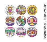 music festival logo set  latino ... | Shutterstock .eps vector #1006996204