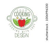 hand drawn culinary logo design ... | Shutterstock .eps vector #1006996330