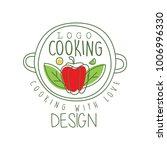 hand drawn culinary logo design ... | Shutterstock .eps vector #1006996330