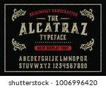 """alcatraz"".  vintage gothic... | Shutterstock .eps vector #1006996420"