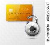 credit card safe combination... | Shutterstock .eps vector #1006997236