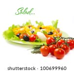 healthy vegetarian salad... | Shutterstock . vector #100699960