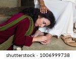 mary magdalene crying of shame... | Shutterstock . vector #1006999738