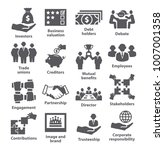 business management icons. pack ... | Shutterstock .eps vector #1007001358