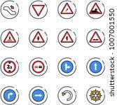 line vector icon set  ... | Shutterstock .eps vector #1007001550