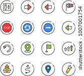 line vector icon set   elevator ... | Shutterstock .eps vector #1007001754