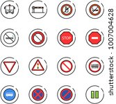 line vector icon set   airport... | Shutterstock .eps vector #1007004628