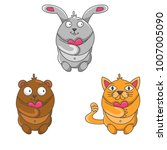 set of cute animals to... | Shutterstock .eps vector #1007005090