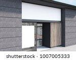 white  dark wooden and dark... | Shutterstock . vector #1007005333