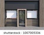 light wooden and dark gray cafe ... | Shutterstock . vector #1007005336