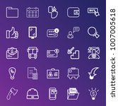 business outline vector icon... | Shutterstock .eps vector #1007005618