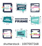 set of abstract banners in flat ... | Shutterstock .eps vector #1007007268