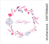 watercolor cute flower wreath... | Shutterstock . vector #1007008660