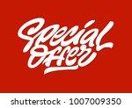 special offer. premium handmade ... | Shutterstock .eps vector #1007009350