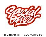 special offer. premium handmade ... | Shutterstock .eps vector #1007009368