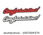 congratulations. premium... | Shutterstock .eps vector #1007009374