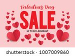 valentines day sale text vector ... | Shutterstock .eps vector #1007009860