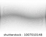 abstract halftone wave dotted... | Shutterstock .eps vector #1007010148