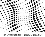 abstract halftone wave dotted... | Shutterstock .eps vector #1007010160