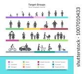 target groups vector... | Shutterstock .eps vector #1007010433