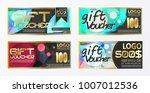 gift certificate voucher coupon ... | Shutterstock .eps vector #1007012536