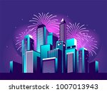 vector illustration of a night... | Shutterstock .eps vector #1007013943