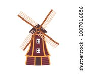 vector illustration of windmill.... | Shutterstock .eps vector #1007016856