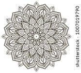 mandala. ethnic decorative... | Shutterstock .eps vector #1007019790
