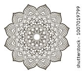 mandala. ethnic decorative... | Shutterstock .eps vector #1007019799