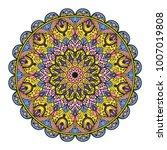 mandala. ethnic decorative... | Shutterstock .eps vector #1007019808