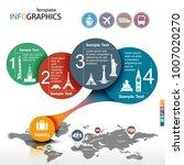 infographic template. travel ... | Shutterstock .eps vector #1007020270