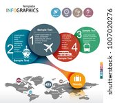 infographic template. travel ... | Shutterstock .eps vector #1007020276